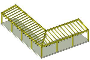 Progetto delle strutture in legno lamellare di una tettoia for Progetto gazebo in legno pdf