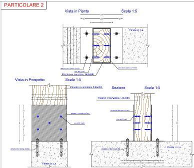 Calcolo strutturale di un fabbricato in legno lamellare e for Fondazioni per case in legno