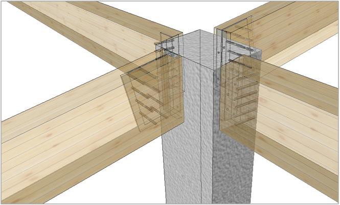 Servizio cad cam strutture in legno lamellare calcolo for Tetti in legno particolari costruttivi