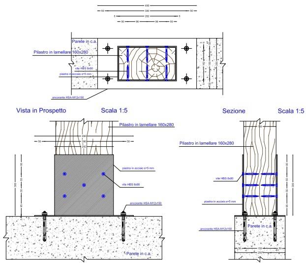 Progettazione delle strutture in legno lamellare e cemento for Fondazioni per case in legno