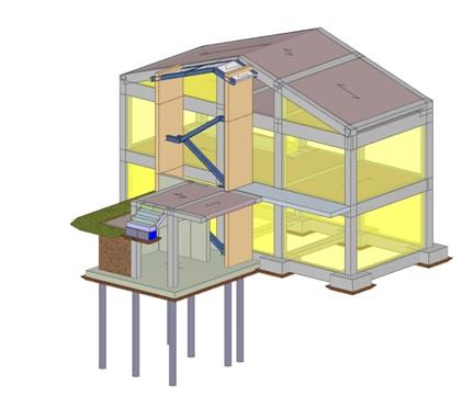 Fusione di due unit immobiliari con ampliamento mediante for Progettazione del piano casa
