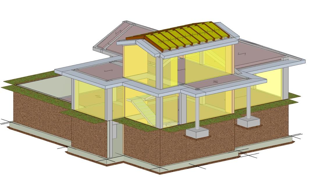 Realizzazione di una villetta residenziale in cemento for Scala in cemento armato a vista