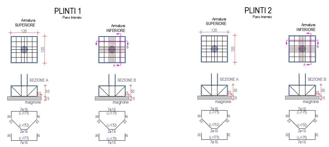 Realizzazione di una villetta residenziale in cemento for Piano di fondazione di casa